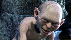 Gollum from lord of the rings looking evil